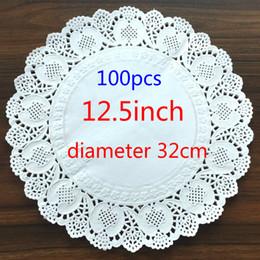 Vente en gros - 12.5inch / 320mm Vintage serviette de table en dentelle creusée tapis de papier artisanat doilies décoration de mariage (100pcs / sac) ? partir de fabricateur