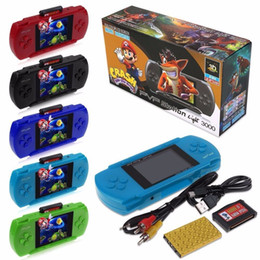 Wholesale Lcd Portable Game Console - Game Player PVP 3000 (8 Bit) 2.5 Inch LCD Screen Handheld Video Game Player Consoles Mini Portable Game Box Also Sale PXP3