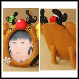 Wholesale Picture Christmas Tree - Photo Frames Acrylic Photo Frame CHRISTMAS TREE ORNAMENT PHOTO FRAME REINDEER SANTA SNOWMAN PICTURE FRAME SO CUTE Christmas Photo Frame