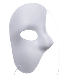 Wholesale Party Mask Making - Phantom Of The Opera Face Mask Halloween Christmas New Year Party Costume Clothing Make Up Fancy Dress Up - Most Adults White Phantom Mask