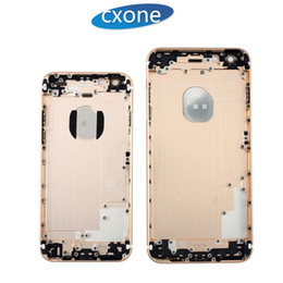 Wholesale Complete Housing - 100% Genuine High Quality Housing Back Battery Door Cover Complete Assembly For iPhone 5G 5S 6 6G 6S 7 7G plus Free DHL