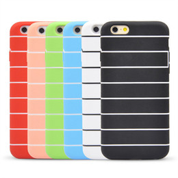 Wholesale I Phone Back Covers - New 4.7 Inch for iphone 6 silicone Case TPU Cartoon Cheap Phone Bags For iPhone6 i Phone Stripe Cases Cover Back Covers