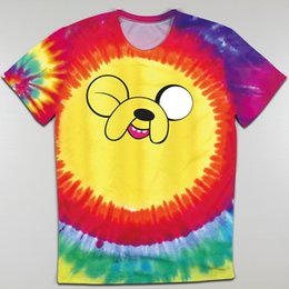 Wholesale Cheap Adventure Time - Wholesale-Promotion Cheap Top Tees Adventure Time T Shirts Men Jake the Dog Top Tees Man Clothing Boys T-shirt Short Sleeve Round Neck