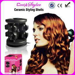 100% Katı Seramik Styling Kabukları Saç Bigudi Serin Bir Styler Haşlanma Geçirmez Güvenli 100 ~ 240 V nereden
