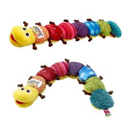 Wholesale Singing Halloween Toy - Hot Lamaze Musical Inchworm Baby toys Singing Plush Garden Bugs plush baby toys Educational toy Free Shipping Christmas Xmas Gift