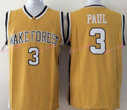 Wholesale Chris Paul NCAA College Jersey Wake Forest Demon Deacons Yellow