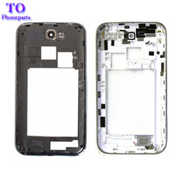 Wholesale Mobile Cover Note2 - For Samsung Galaxy Note 2 N7100 N7105 Cover Case Mobile Phone Note2 Middle Frame Housing Back Bezel Black White Repair Parts
