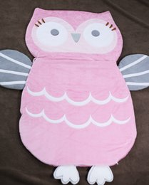 Wholesale Pink Quilt Patterns - 1pc Cartoon Pink Owl Cotton Baby Sleeping Bag Anti Startle Portable Four Seasons Quilt Swaddle Sleep Sack Newborn Baby Carrier
