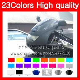 100New Motorcycle Windscreen For KAWASAKI NINJA ZX6R 94 95 96 97 ZX 6R 6 R 1994 1995 1996 1997 Chrome Black Clear Smoke Windshield