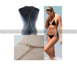 Wholesale Wholesale Beaded Belly Chain - 2015 Time-limited Limited Trendy Colar Sterling Jewelry Fashion Harness Bikini Beach Crossover Belly Body Chain Necklace Jewelry