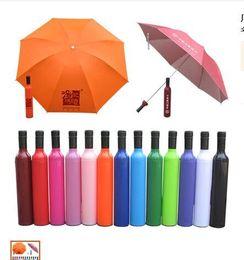 Wholesale Personalized Wine Umbrella - 20157 New Novelty Design Personalized Clear Rain Umbrella!Super Cute And Compact 3-Folding Manually Fashion Wine Bottle Umbrella.