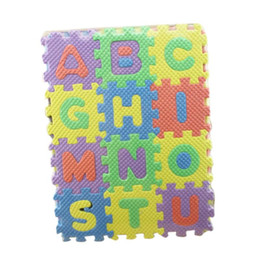 Wholesale Baby Bass - Wholesale- Kids Rug Baby Play Mat Soft Floor Crawling Mini Puzzle Mats for Children 36pcs Set 17.8*13.5*1.7cm Alphabet Numerals