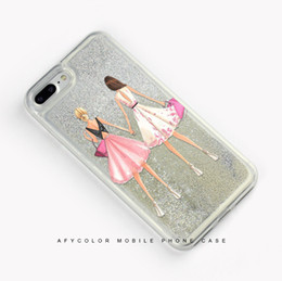 Wholesale pearl phone cases - 7plus luxury pearl mobile phone shell 6s silver liquid quicksand soft shell multicolor optional