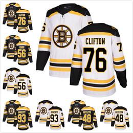 2017 New AD Mens Boston Bruins76 Connor Clifton 56 Tommy Cross 93 Taylor  Doherty 48 Matt Grzelcyk Ice Hockey Jerseys White Black hockey 93 on sale 0515b6fa9