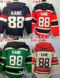 Wholesale Usa Olympic Sweatshirt - 2015 cheap New Red # 88 Patrick Kane Hoodies Sweatshirts Green Hockey Olympic Patrick Kane USA Hoodies Jersey