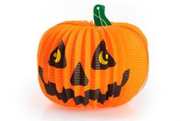 lanterna di carta fantasma Sconti 10 pezzi Halloween Paper Pumpkin Lantern Decoration Zucca Spider Fantasma Pipistrelli Lanterna di carta