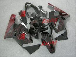 Argentina Fondo negro brillante rojo llamas pintado personalizado moldeado por inyección de plástico carenado Kawasaki Ninja ZX12R 2002-2005 24 Suministro