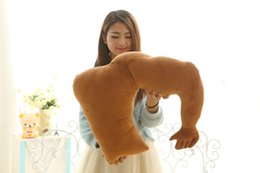 Wholesale Male Pillow Dolls - In 2017, the latest figures of male body muscle Le Meng big pillow short plush doll doll factory direct