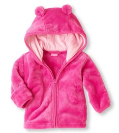 Wholesale wholesale clothing hoodies - Fashion baby coat winter thicken warm flannel kids hoodies children clothes cartoon outerwear coats 4 p