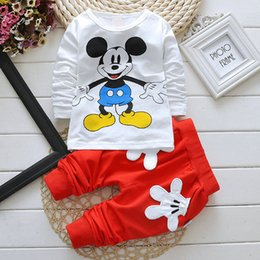 Wholesale High Quality Piece - baby clothes special kids clothes long sleeve unisex girls favorite Mickey baby clothes soft casual boy clothes four colors,high quality