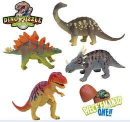 Wholesale 3d Egg Puzzle - 2016 New Fashion 3D Dinosaur puzzle egg Building Blocks educational toy great fun for children's gifts