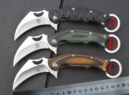 Wholesale Good Quality Fixed Blade Knives - New folding claw karambit knife,good quality hunting survival knives,microtech knives,AKC knives,balisong knives(3 colors)