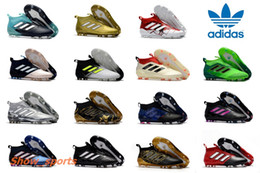Wholesale Fg Blue - Adidas Ace 17+ Purecontrol Champagne Outdoor Soccer Cleats Firm Ground Cleats Training Boost FG NSG ACE 17 Mens Football Boots Turf Soccer