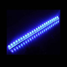 Wholesale Easy Life - 20pcs lot 24cm Waterproof blue Car LED Strip PVC lights ,easy to install,long life time