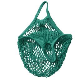 Wholesale Wholesale Fabric Bags Totes - Wholesale- Reusable String Shopping Grocery Bag Shopper Tote Mesh Net Woven Cotton Bag