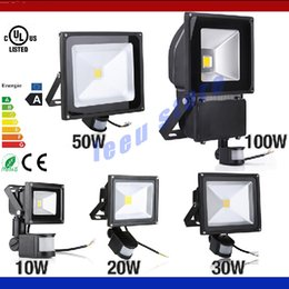 Wholesale Infrared Pir Motion - 10W 20W 30W 50W 100W PIR Infrared Motion Sensor led floodlight 110-265V waterproof IP65 parki led for Garden spotlight outdoor lights