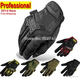 Wholesale Motorcycle Army Combat Men S - 2015 New Mechanix Wear M-Pact Military Tactical Army Combat Riding Motorcycle Shooting Bicycle Motorcross Cycling Full Gloves