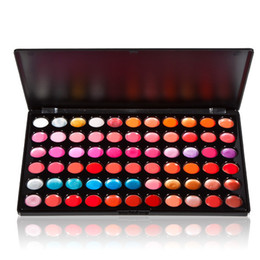 Wholesale Professional 66 Lipstick - Free DHL Professional Beauty 66 Color Lip Gloss Lipstick Cosmetic Makeup Palette FATE