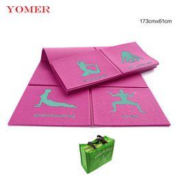 Wholesale Mat 8mm - Hot sale Yoga Mat 8mm Yoga Pads Fitness Mat PVC Material for Exercise Gymnastics Mats Fold Unique Design Fitness with Yoga Bag