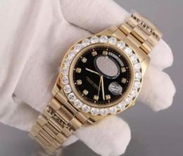 Wholesale Diamante Diamond - di lusso AAA orologi Osservare con Diamond Bezel Super N Presidente Giorno Data 18K uomo Gold Quadrante e Diamante indici wristwatc
