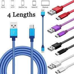 Wholesale Cord Net - 0.25M 1M 2M 3M Aluminum alloy Fishing net Braided USB 3.1 Type C Data Charger Cable Cord For Samsung S8   Oneplus 3 3T G6 U11 DH1700158
