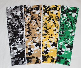 Wholesale Wholesale Outdoor Sportswear - NEW green yellow white digital camo arm sleeves baseball Outdoor Sport Stretch Elbow Extended compression sportswear