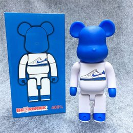Wholesale Sports Action Figure - 28cm Bearbrick Be@rbrick Sports Shoes 400% Gloomy-Bear Christmas Birthday Gifts Toys Doll Film Moive Action Figure