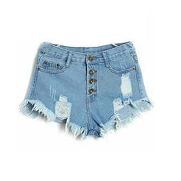 Wholesale Sexy High Waisted Hot Pants - Hot Sale 4 Colors 2015 Denim Women Shorts Sexy Summer Hole Destroyed Shorts Jeans Plus Size High Waisted Jeans Short Feminino FG1510