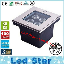 Wholesale Square Underground Led Lights High Bright W Deck Lighting Led Garden Light Floor Light IP67 Waterproof AC V