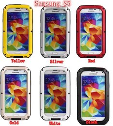 Wholesale S4 Gorilla Case - Aluminum Gorilla Glass Extreme Case Waterproof Metal Cover For Iphone 4 5 5C 6 6G Plus Iphone6 i7 i7plus Samsung S4 S5 S6 Note4