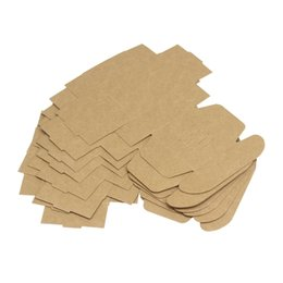 Wholesale Hand Cookies - 65*65*30mm Cookies Box Square Kraft Paper Gift Boxes Brown Foldable Hand Made Soap Organizer New Arrival 0 35xy B