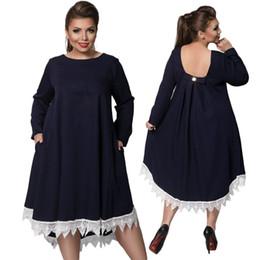 Robes de mode russes en Ligne-Plus la taille robe L-6XL 2017 nouvelles femmes russes taille robe, printemps et automne pure mode robe élégante NYC404 sortie d'usine en gros