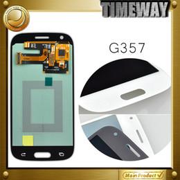 Digitalizzatore asso online-Display LCD all'ingrosso con Touch Screen Digitizer di ricambio per Samsung Ace 4 SM-G357 G357 G357FZ grigio / bianco
