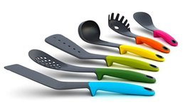 Wholesale Nylon Utensils - Handle nylon kitchen dining utensils 6pcs sets FDA candy color kitchen Nonstick pan cooking tools freeshipping