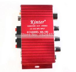 2019 monitores mp3 Amplificadores de potencia Kinter MA180 12V MINI Radio de audio para computadora Amplificador de MP3 Puerto USB Puerto de computadora de carga con entrada rca monitores mp3 baratos