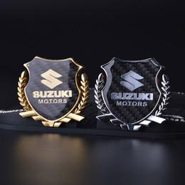 Wholesale Decal Suzuki - 2Pcs Refinement 3D logo Emblem Badge Graphics Decal Car Sticker SUZUKI