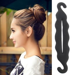 Wholesale Clip Updo - 1Pcs Women Magic Foam Sponge Hairdisk Hair Device Donut Quick Messy Bun Updo Hair Clip Hair Accessories