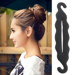 Wholesale Hair Updo Buns - 1Pcs Women Magic Foam Sponge Hairdisk Hair Device Donut Quick Messy Bun Updo Hair Clip Hair Accessories