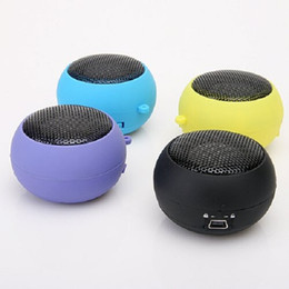 Wholesale Mini Speakers For Iphone Hamburger - Universal 4 Colors 3.5mm Plug Mini Hamburger Speaker For iPhone 5 6 For iPad 3 4 For Samsung S3 S4 For HTC For LG PC Latop MP3 order<$18no t