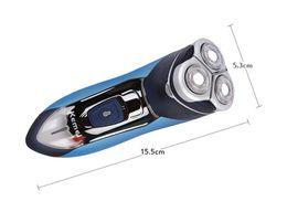220 v le plus récent 3 têtes flottant rasoir électrique triple lame électrique rasoir rechargeable rasoirs visage pour les hommes 3D flotteur tondeuse à barbe ? partir de fabricateur